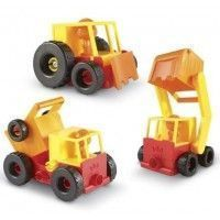 STEM set construye excavadora, camión volquete, retroexcavadora