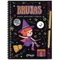 Raspa, descubre y dibuja. Brujas