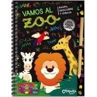 Raspa, descubre, dibjuja: Vamos al zoo