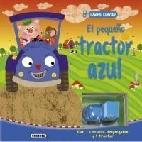 El pequeño tractor azul
