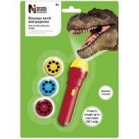 Linterna y proyector dinosaurio