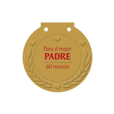 Medalla para el mejor padre del mundo