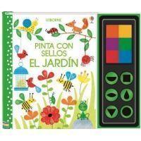 Pinta con sellos: El jardín.
