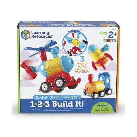 Set construye cohete, tren, helicóptero