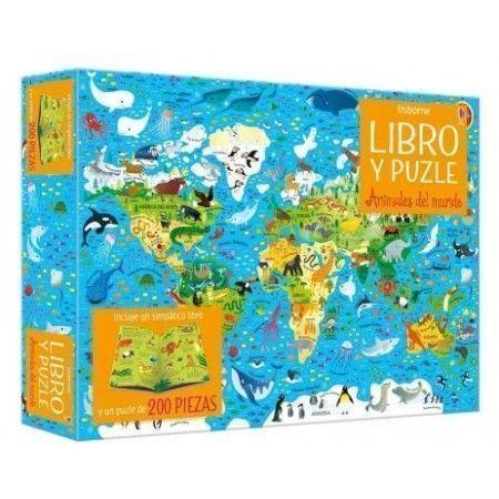 ANIMALES DEL MUNDO (Libro y puzle)