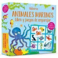 ANIMALES MARINOS. Libro y juegos de emparejar