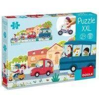 Puzzle XXL vehículos 18 piezas